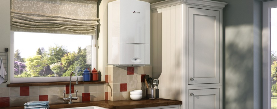 Energy-efficient, low cost solutions - compact boiler installation in Dublin Kitchen